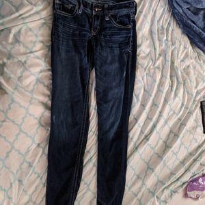 Express Jeans - Stella low-rise leggings jeans 0R dark stretch